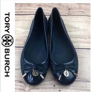 2fedf9f6428374 Tory Burch Shoes - 💕SALE💕Tory Burch Navy Blue Jelly Ballerinas
